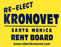 Re-elect Robert Kronovet for Rent Control Board