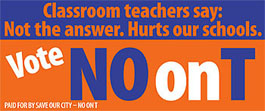 Banner for Vote No on T