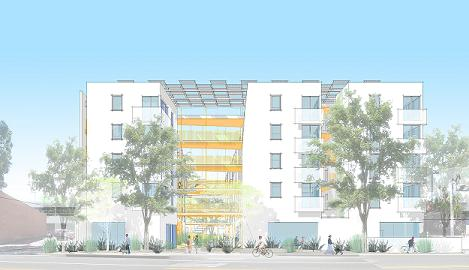 Renderinhg of Affordable Housing Project at 1626 Lincoln Boulevard
