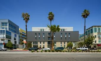 Affordable housing component of Santa Monica Civic Center housing complex.