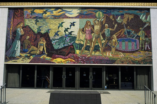 Picture of Millard Sheets Mosaic on Wilshire Boulevard