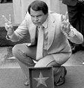 Picture of Rich Little on the Hollywood Walk of Fame in 1983