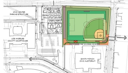 Proposed Civic Center Temporary Sports Field