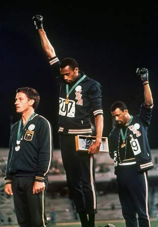 Tommie Smith at 1968 Olympics