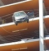 Car dangles from Santa Monica parking structure
