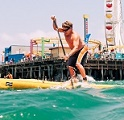 Santa Monica Pier paddleboard races