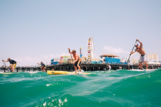 Santa Monica Pier Paddleboard Racing