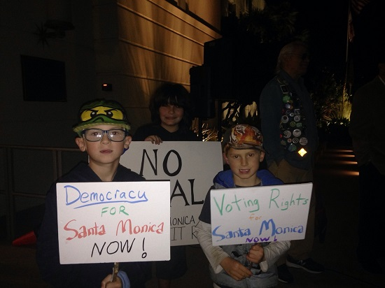 Kids protest at voting rights rally