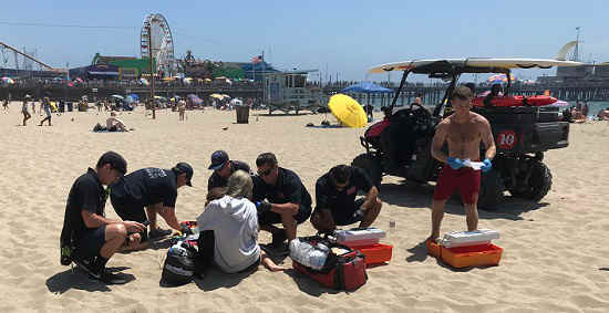 Fire Department beach pilot program