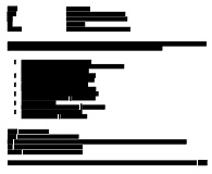 Sample of redacted email