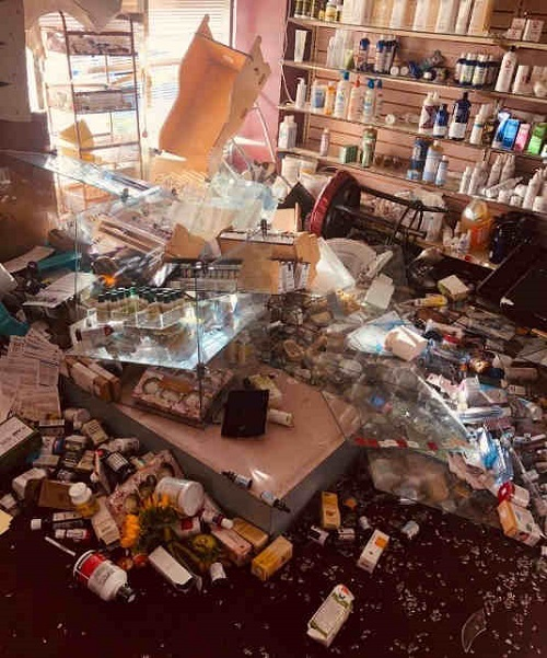 Santa Monica Homeopathic Pharmacy looted